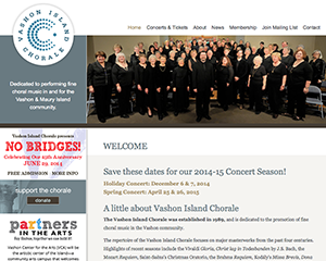 Vashon Island Chorale Website