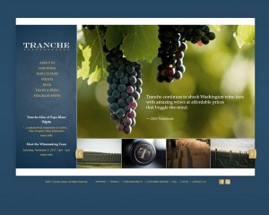 Tranche Cellars Website Study