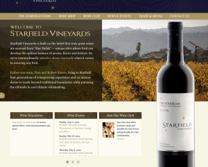 Starfield Vineyards Website